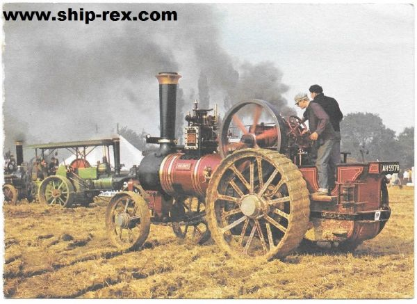 "Burrell Traction Engine - ""Greetings from"" card"